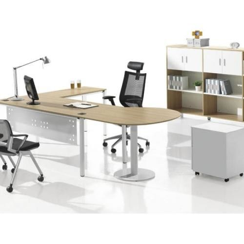 Simple Design Particle Board Office Desk , Executive Solid Wood Conference Table