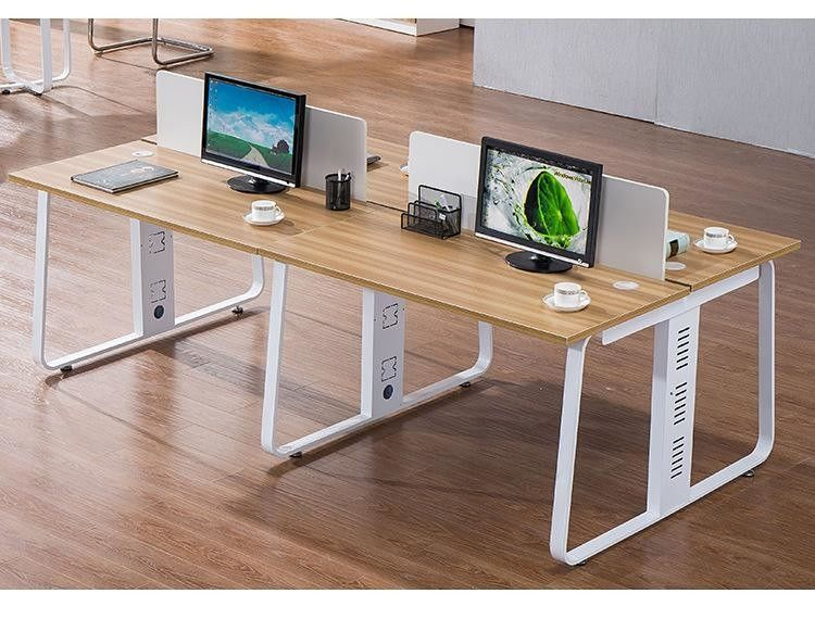Modern style melamine faced wooden executive office desk staff workstation office desk from China factory direct selling