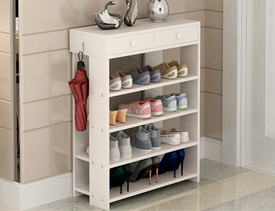 15mm Simple Style Particle Board Shoe Rack Storage With Different Colors